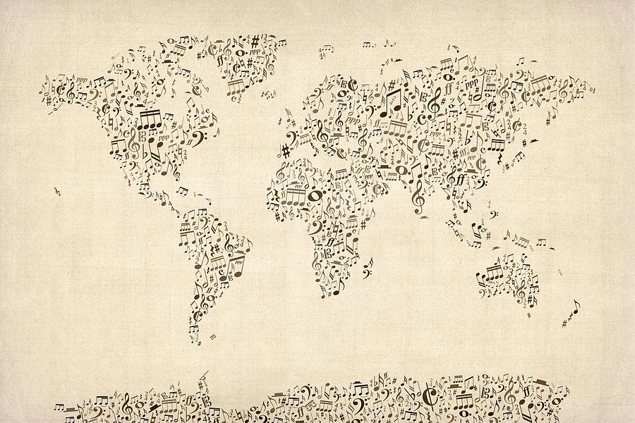 music-notes-map-of-the-world-map-michael-tompsett